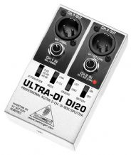 Behringer Ultra-DI DI20 2 Channel DI Box Silver/Black